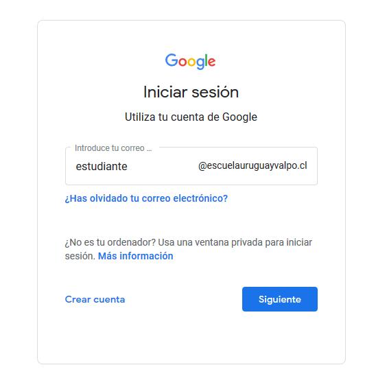 Inicia sesión Cuentas de Google